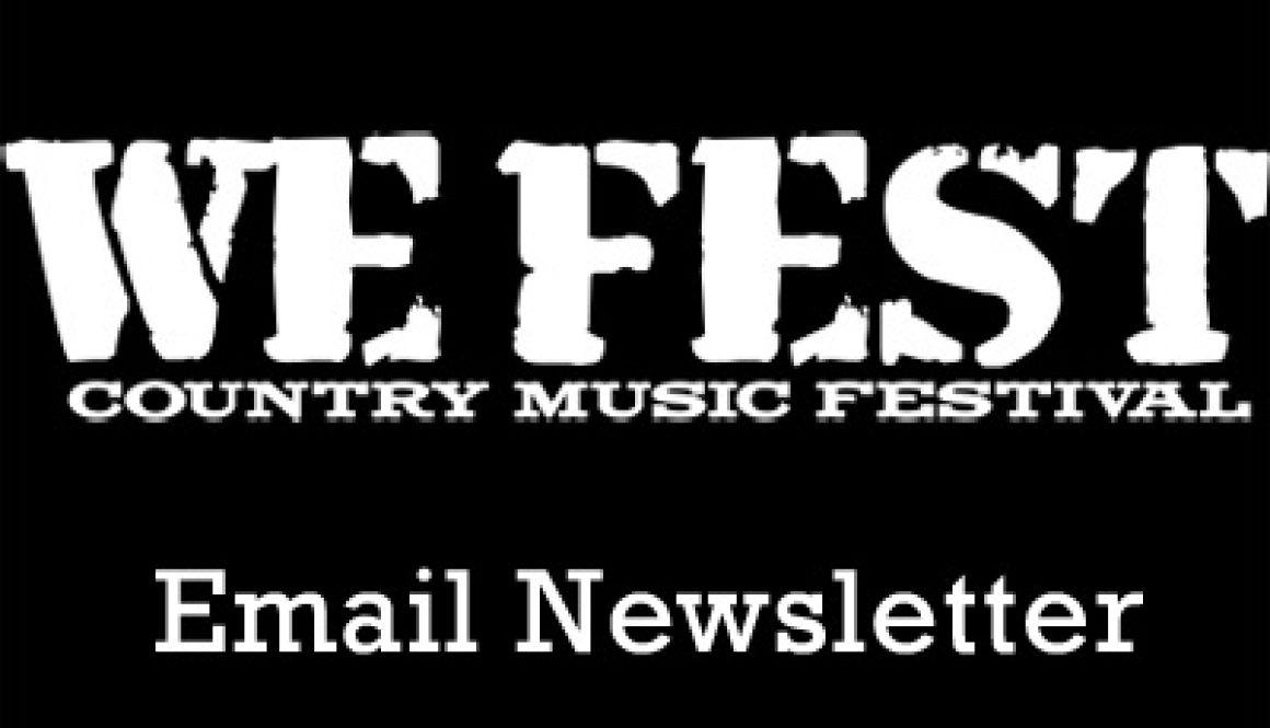 WE Fest Email Newsletter